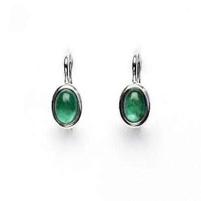 0cf2a5d61 ČIŠTÍN s.r.o Stříbrné náušnice, přírodní smaragd A+, 6x4, NK 1353 15091