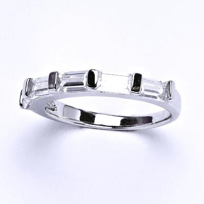 ČIŠTÍN s.r.o Stříbrný prsten, prstýnek ze stříbra, syntetický zirkon, váha 2,97 g, vel.56 13973
