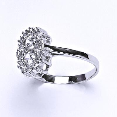 ČIŠTÍN s.r.o Stříbrný prsten, prstýnek ze stříbra, syntetický zirkon, váha 2,83 g, vel.58 13978