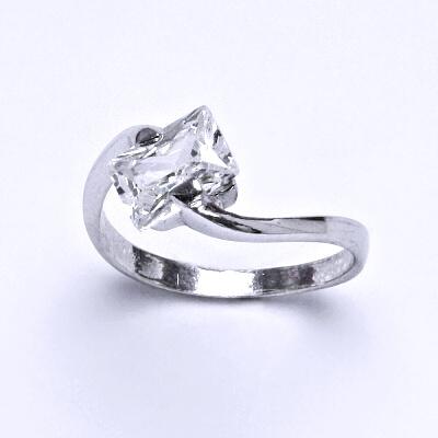 ČIŠTÍN s.r.o Stříbrný prsten s čirým zirkonem,prstýnek ze stříbra,váha 2,52 g 14325
