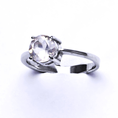 ČIŠTÍN s.r.o Stříbrný prsten, přírodní růženín, prstýnek ze stříbra, T 1357 2964