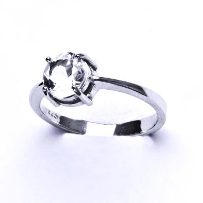 ČIŠTÍN s.r.o Stříbrný prsten, přírodní křišťál, prstýnek ze stříbra, T 1357 2965
