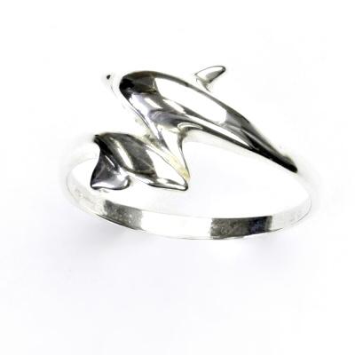 ČIŠTÍN s.r.o Stříbrný prsten, delfínci, prstýnek ze stříbra, T 765 2348