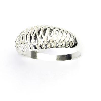 ČIŠTÍN s.r.o Stříbrný šperk, prsten ze stříbra, ryba, stříbrný prstýnek, T 837 2356