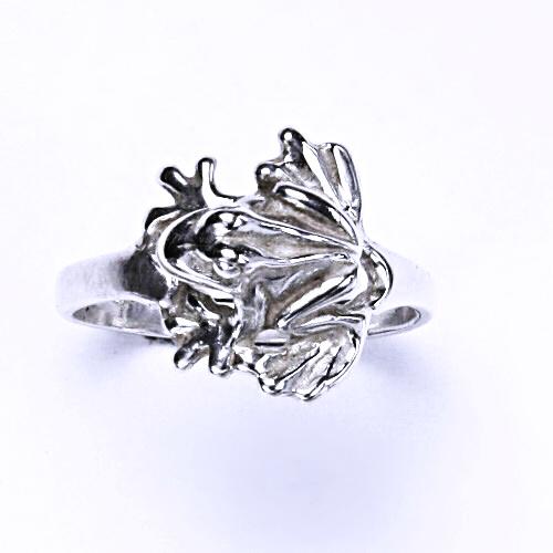 ČIŠTÍN s.r.o Stříbrný prsten, žába, prstýnek ze stříbra, stříbro, T 723 2421