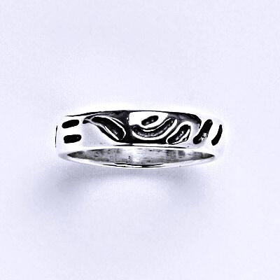 ČIŠTÍN s.r.o Stříbrný prstýnek s patinou, prsten ze stříbra,váha 2,45 g 14346