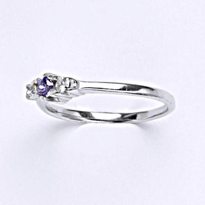 ČIŠTÍN s.r.o Stříbrný prsten s ametystem,prsten ze stříbra, T 1222 6816