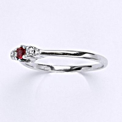 ČIŠTÍN s.r.o Stříbrný prsten s rubínem,prsten ze stříbra T 1222 6278